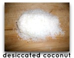desiccated coconut meat
