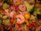 shrimp and vegetable picture